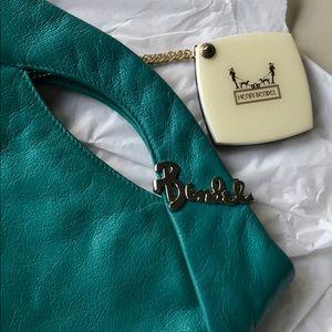 Henri Bendel Jade Green Leather Clutch